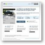eBay Motors Selects RoadLoans as its Online Lender