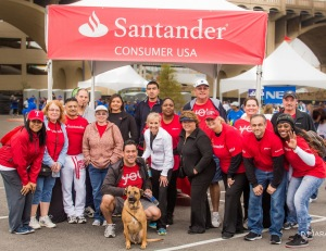 The Santander Consumer USA team as they raise $60,000 for the AHA