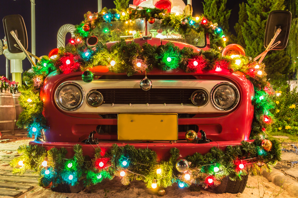 dressing up your vehicle for the holidays sounds great if its safe