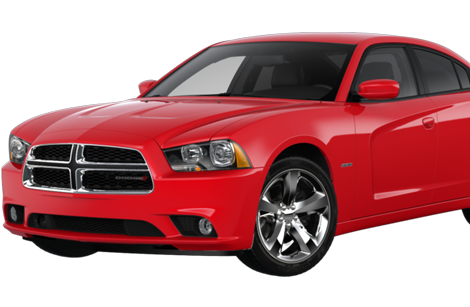 Dodge Charger in Red.