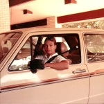 Ready to roll: James Mayfield and his 1980 Volkswagen Rabbit.