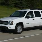 Large enough to share: A big, boxy Chevrolet TrailBlazer. Credit: Autoblog