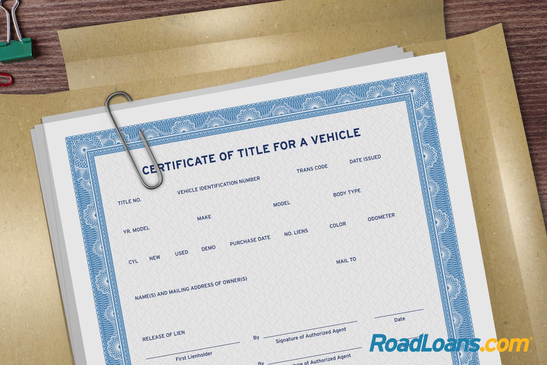 Car title certificate