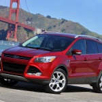San Francisco, CA., April 15, 2012--The all-new 2013 Ford Escape, which was launched on the streets of San Francisco, features clever technologies like the hands-free liftgate and class-leading fuel economy.  The Escape will arrive at Ford dealers this spring. (04/15/2012)