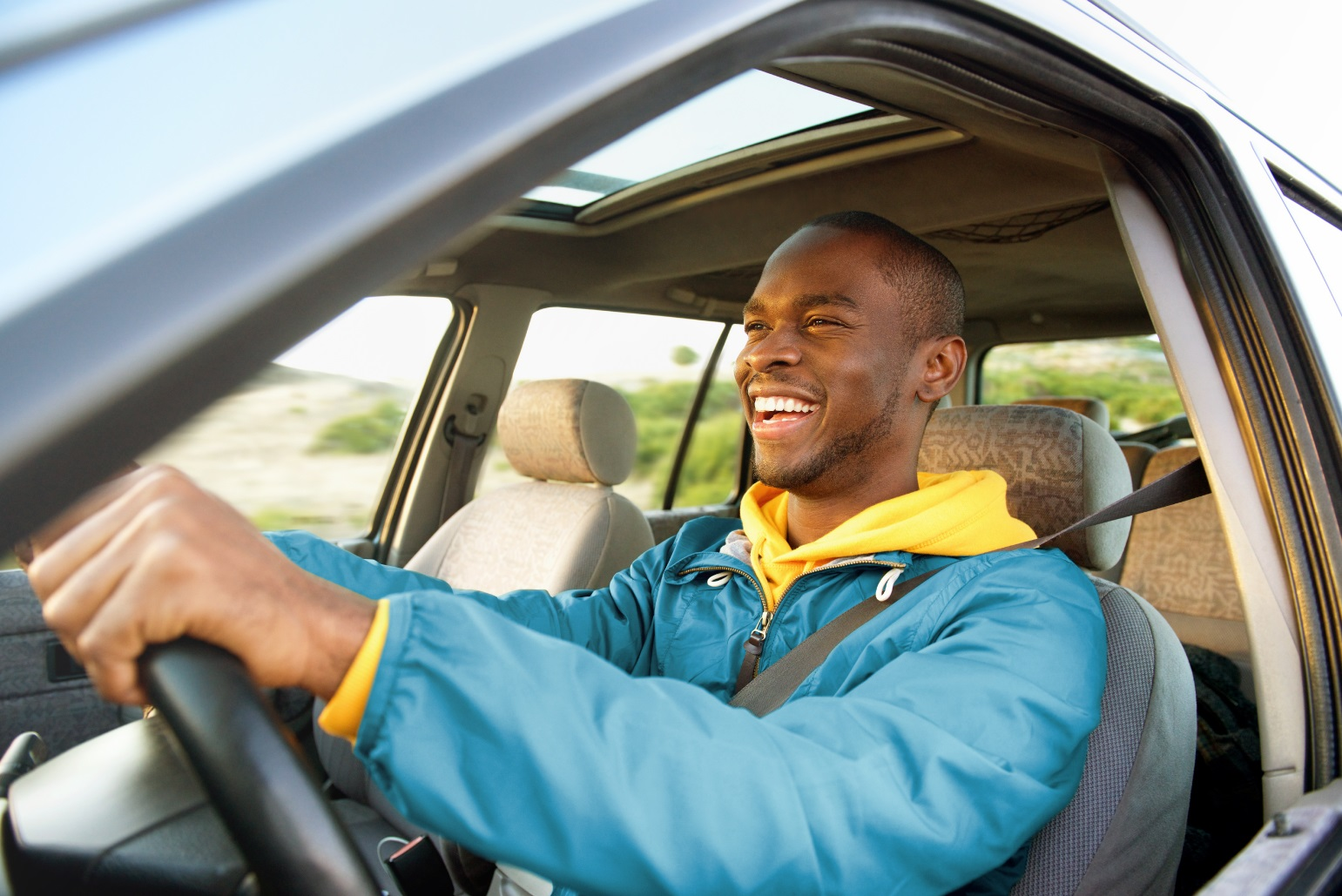 Driver in car purchased with preapproved auto loan