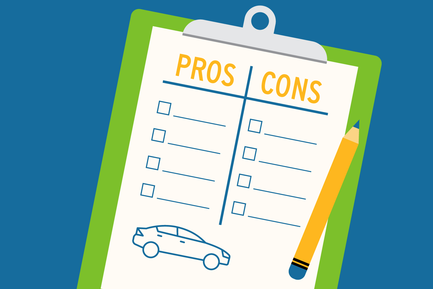 Pros and cons of buying a used car checklist