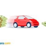Car next to dollar notes