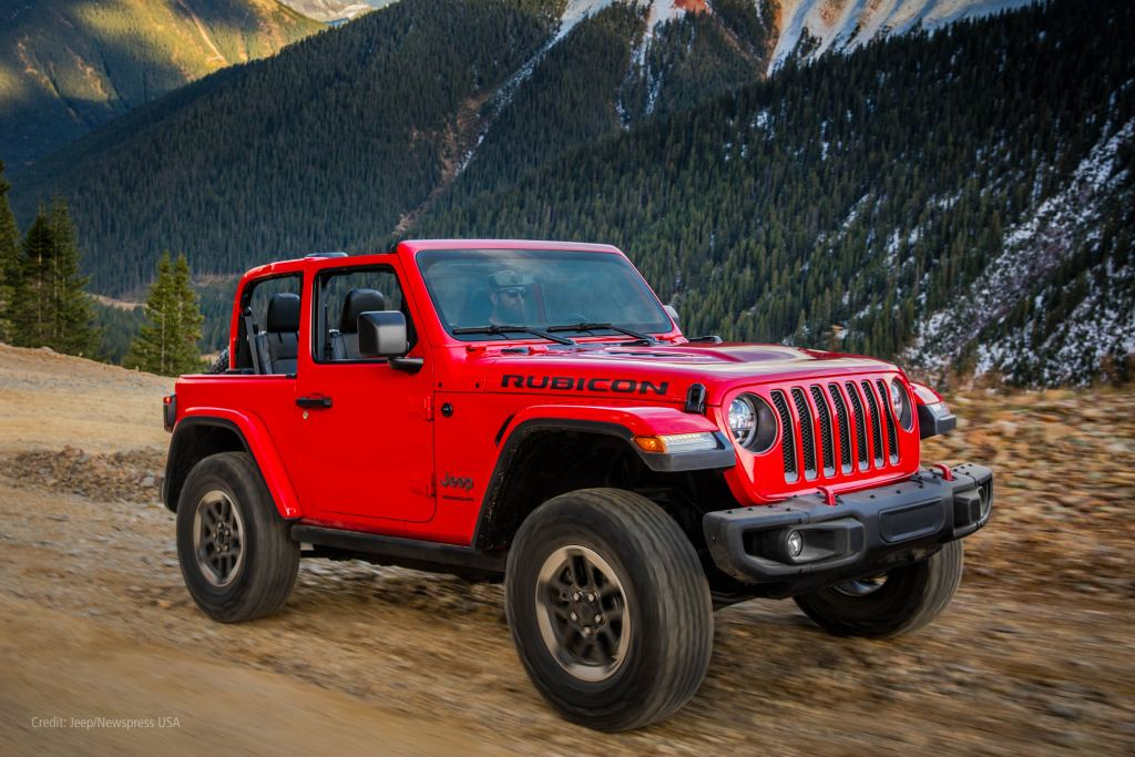 Jeep Wrangler on mountain track