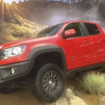 Chevrolet Colorado displayed at Texas Auto Show