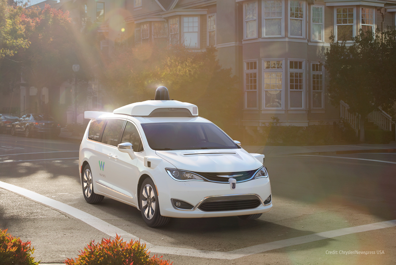 Self-driving car at intersection
