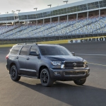 Toyota Sequoia on racetrack